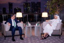 صورة بن زايد يقدَّر دور السعودية في اتفاق الرياض وبن مبارك يشكو له التصعيد الحوثي في مأرب