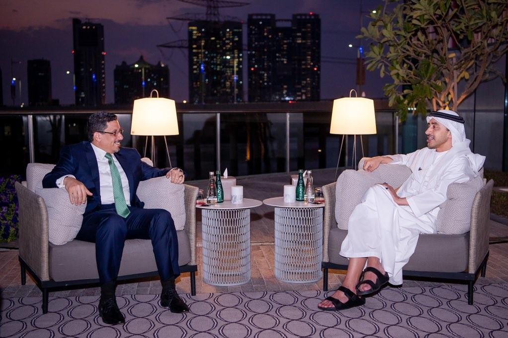بن زايد يقدَّر دور السعودية في اتفاق الرياض وبن مبارك يشكو له التصعيد الحوثي في مأرب