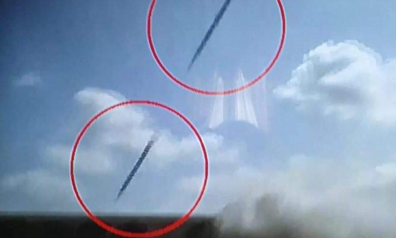 تفجيرات مطار عدن لحظة سقوط الصواريخ