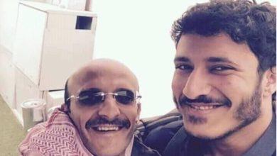 صورة السيد تطالب بإطلاق الأسيرين محمد وعفاش صالح
