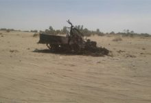 صورة غارات جوية تدمر آليات حوثية بالجوف