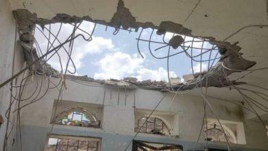 """صورة أول أيام عيد الأضحى.. مليشيات الحوثي تقصف مدرسة في مأرب بصاروخ باليستي  """"صور"""""""