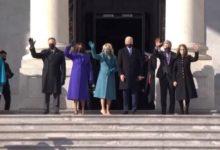 """صورة الرئيس الأمريكي جو بايدن ونائبته يصلان الكابيتول لبدء مراسم التنصيب """"فيديو"""""""