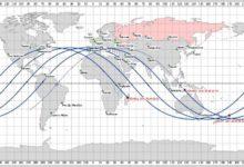 """صورة عاجل: روسيا تحدد مكان وموعد سقوط الصاروخ الصيني التائه """"اسم المنطقة بالتحديد"""""""