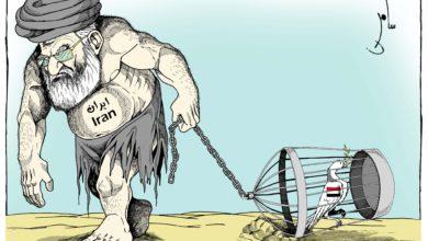 صورة ايران وتدمير اليمن