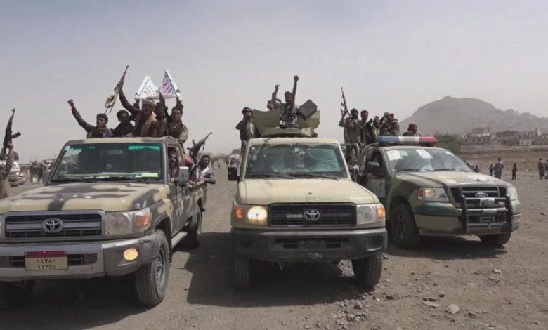 صورة المشتركة تستهدف تعزيزات المليشيات القادمة من إب