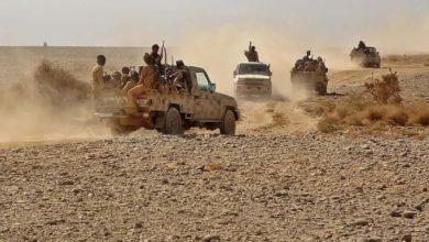 صورة مواجهات بين الجيش والحوثيين غرب مأرب