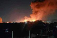 صورة حريق يلتهم سوق سوداء جديدة للحوثيين في صنعاء