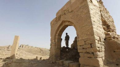 صورة خبراء من إيران للتنقيب عن آثار اليمن وتهريبها