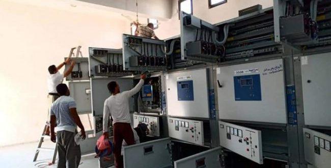 من اعمال صيانة محطة الحسوة في عدن