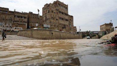 صورة شاهد كيف عرّت سيول الأمطار الحوثيين.. مشاريع وهمية ودمار واسع في البنية التحتية