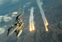 صورة غارات مكثفة تستهدف تجمعات للمليشيات في مأرب