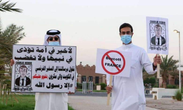 صورة غضب العرب من ماكرون فحظروه على تويتر والحملة تتصاعد لنصرة النبي والدفاع عنه