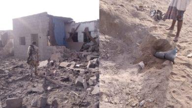 """صورة قصف صاروخي على حي بمدينة الحديدة والدمار هائل بمنازل المواطنين ونزوح جماعي للسكان """"صور"""""""