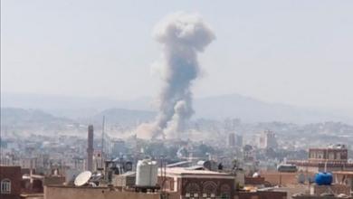 صورة إعلام المليشيات يتحدث عن إصابة مدنيين إثر غارات للتحالف امس الأحد