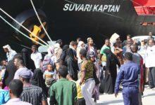 صورة وصول دفعة جديدة من اللاجئين اليمنيين الى الصومال
