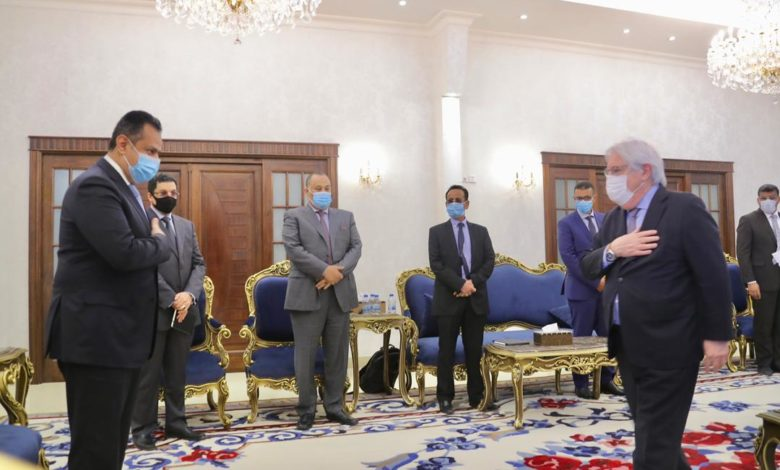 لقاء رئيس الحكومة مع غريفيث اليوم في عدن 7-1-2021