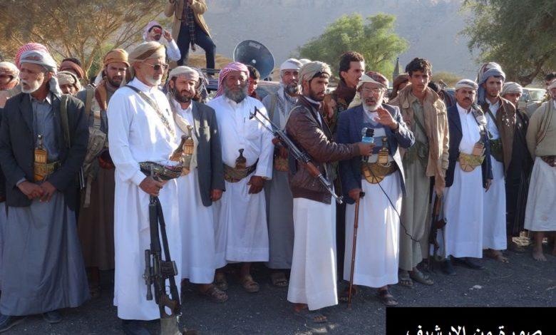صورة مأرب.. قبائل عبيدة تتوعد بمنع الحثيلي وعيشان من نقل نفط ريدان
