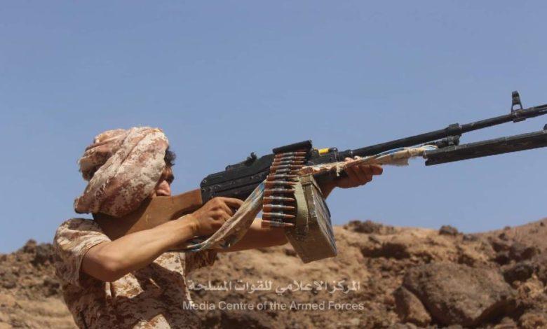 صورة المركز الإعلامي للقوات المسلحة..السيطرة على مواقع جديدة شمال مأرب وعشرات الاسرى والقتلى من عناصر المليشيات