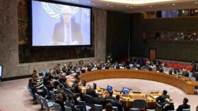 صورة جلسة طارئة لمجلس الامن حول اليمن والتصعيد في مأرب