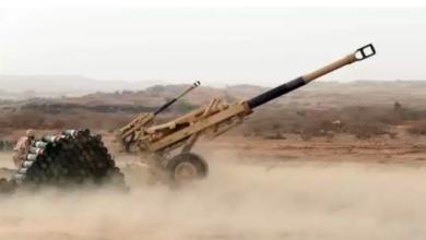 صورة قصف مدفعي على مواقع وتجمعات للمليشيات الانقلابية بمأرب