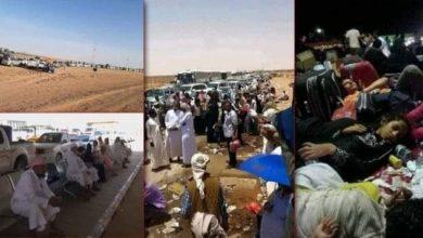 صورة المسافرون المحتجزون في منفذ الوديعة يناشدون الشرعية والسعودية التدخل لتسهيل دخولهم إلى المملكة قبل انتهاء تأشيراتهم