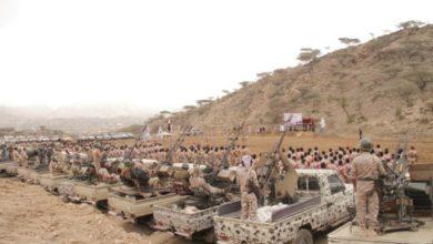 صورة المنطقة العسكرية الرابعة تكشف سبب حشد الإخوان في طور الباحة