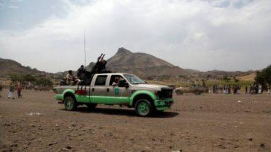 """صورة مليشيا الحوثي تقتحم وتشرّد سكان قرية """"ورقة"""" في ميفعة عنس"""