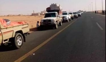 """صورة منع خروج يمنيين في منفذ الوديعة لهذا السبب """"صورة"""""""