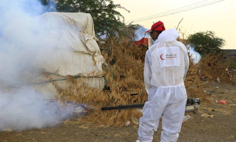صورة بعد توقف أنشطة هلال الإمارات في المديرية.. المخا تناشد وقايتها من البعوض