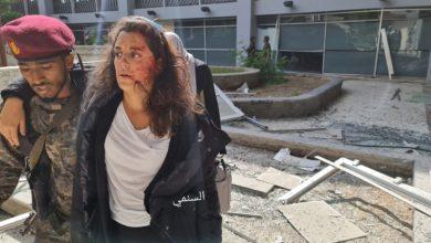 """صورة المتحدثة باسم الصليب الأحمر في اليمن تكتب عن إصابتها في تفجيرات مطار عدن من غرفة عمليتها الرابعة """"ماذا قالت؟"""""""