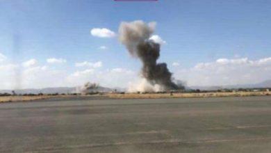صورة انفجار مخزن أسلحة بصنعاء
