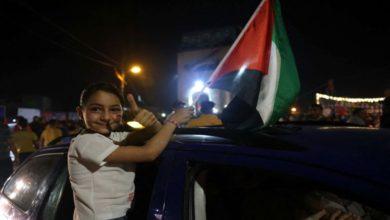 """صورة """"هدنة"""" غزة تدخل حيز التنفيذ والاحتفالات تعم فلسطين"""