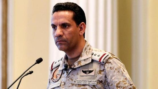 صورة اعتراض طائرة مفخخة أطلقها الحوثيون باتجاه السعودية