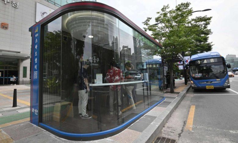 صورة مواقف حافلات ذكية لحماية الكوريين من الحر وكورونا