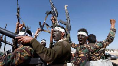 صورة حملة لمليشيا الحوثي اعتقلت فيها العشرات من عناصرها الفارين من المعارك