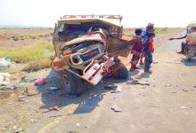 صورة 65 وفاة و800 إصابة بحوادث سير في المديريات الساحلية غرب تعز خلال 2020