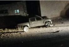 صورة انفجار سيارة قيادي في الحزام الأمني بعبوة ناسفة دون سقوط ضحايا