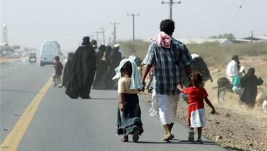 صورة تقرير رسمي: نزوح أكثر من 1500 أسرة جراء المواجهات في مأرب