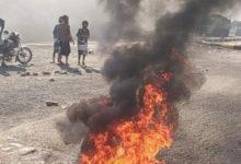 صورة لليوم الثاني على التوالي احتجاجات شعبية في لحج