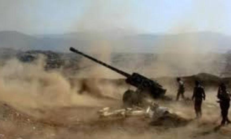 صورة مأرب :موجهات هي الأعنف تخلف عشرات القتلى والجرحى الحوثيين