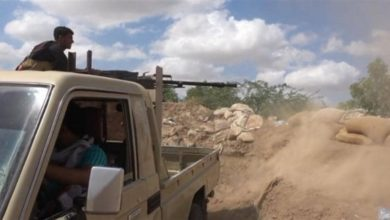 صورة الجيش يحرر جبل هوب العقاب في جبهة القوز غرب تعز